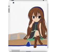 Nerdy Chibi With A Book  iPad Case/Skin