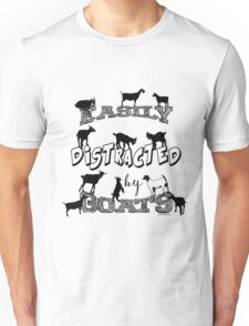 EASILY DISTRACTED BY GOATS Unisex T-Shirt