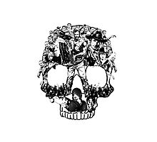 Scary Halloween Skull Walker Zombies Movies Gift Shirt Photographic Print