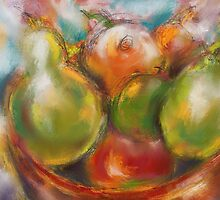 Fruit in a Bowl by Janette  Leeds