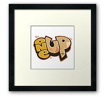 """""""One Up"""" CS:GO Graffiti Framed Print"""