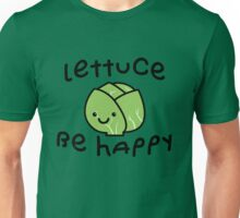 Lettuce Be Happy | Cute Vegan Vegetarian T-shirt  Unisex T-Shirt