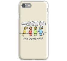 Four Calling Birds iPhone Case/Skin