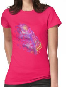 Feather to Flowers Color Womens Fitted T-Shirt