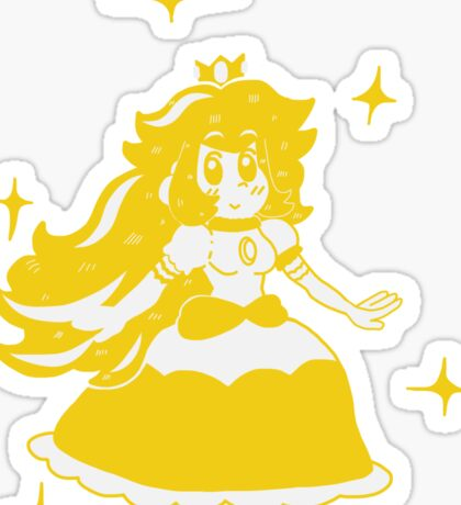 Golden Peachy Sticker