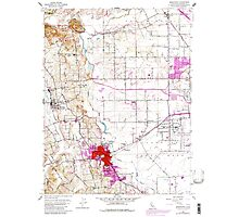 USGS TOPO Map California CA Sebastopol 300398 1954 24000 geo Photographic Print