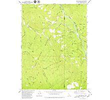 USGS TOPO Map California CA Sims Mountain 300504 1979 24000 geo Photographic Print