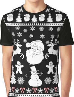 Santa Reindeer Ugly Christmas Sweater Men Women Gift T-Shirt Graphic T-Shirt
