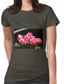 Cyclamen Sunbathing Womens Fitted T-Shirt