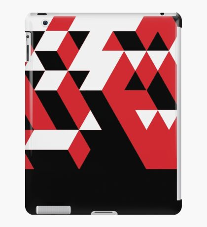 PATTERN VICE TREND CUBE RED BLACK WHITE N.5 iPad Case/Skin