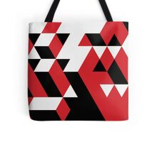 PATTERN VICE TREND CUBE RED BLACK WHITE N.5 Tote Bag