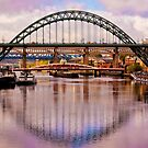 Newcastle Bridges by Trevor Kersley