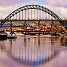 Newcastle Bridges by Trevor Kersley