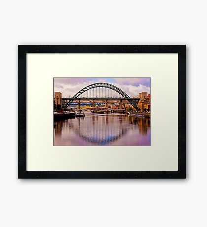 Newcastle Bridges Framed Print