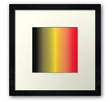 Stripes Gradient - Black | Yellow | Red Framed Print