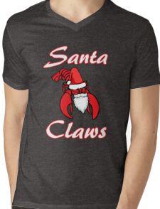 Santa Claws Lobster Mens V-Neck T-Shirt
