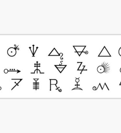 Glyphs Sticker