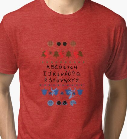 Stranger Things Christmas jumper Tri-blend T-Shirt