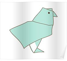 Origami Parrot Poster