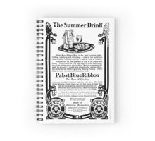 Vintage Ads - Pabst Blue Ribbon Spiral Notebook