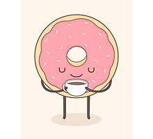 donut loves coffee Photographic Print