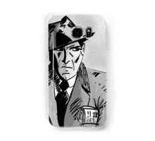 Film Noir Character with Hat, Coat and Paper on a Grey Day Samsung Galaxy Case/Skin