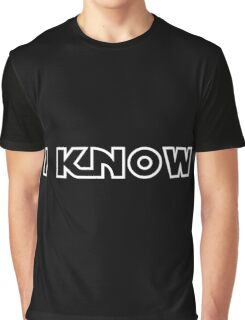 "Star Wars - Leia and Han ""I know."" Graphic T-Shirt"