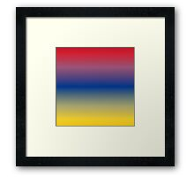 Color Gradient - Yellow   Blue   Red Framed Print