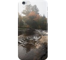 Foggy Fall Waterscape - the Rushing River iPhone Case/Skin