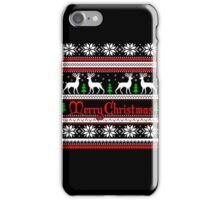 Merry Christmas T-Shirt, Funny Ugly Christmas Sweater Shirt iPhone Case/Skin
