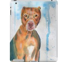 Red Nose Pit Bull Loose Watercolor Portrait iPad Case/Skin