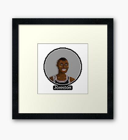 Avery Johnson - Spurs Framed Print
