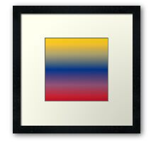 Color Gradient - Red   Blue   Yellow Framed Print