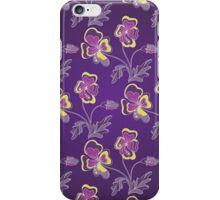 Violet background iPhone Case/Skin