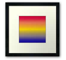 Color Gradient - Blue   Yellow   Red Framed Print