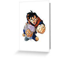 Trunks & Sangoku Greeting Card