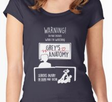 Warning! I'm Watching Grey's Women's Fitted Scoop T-Shirt