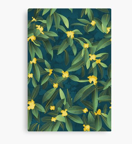 Loquat medlar tree in Autumn I Canvas Print