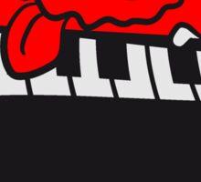 keyboard klavier tasten musik band spielen spaß party feiern tanzen bescheuert haarig monster wuschelig verrückt lustig comic cartoon zottelig crazy cool gesicht  Sticker