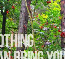 NOTHING CAN BRING YOU PEACE BUT YOURSELF Sticker