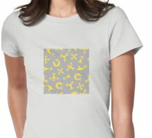 Yellow arrows Womens Fitted T-Shirt