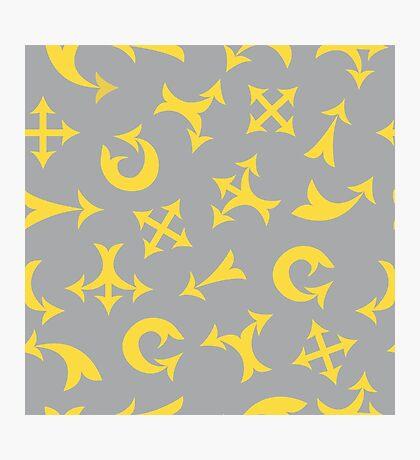 Yellow arrows Photographic Print