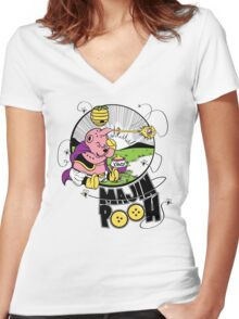 Majin Pooh Women's Fitted V-Neck T-Shirt