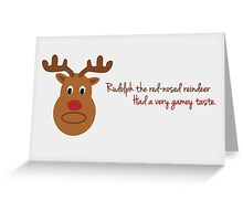 Rudolph The Red-Nosed Reindeer Greeting Card