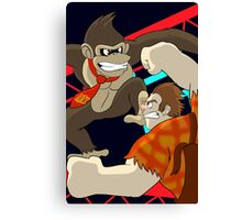 Donkey Kong vs Wreck-It Ralph Canvas Print