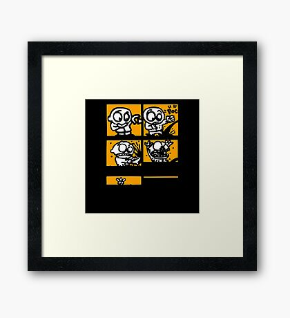 ink comics cartoon Framed Print