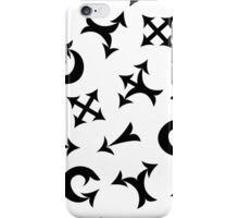 Black arrows iPhone Case/Skin