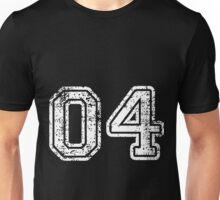 Sport Team Jersey 04 T Shirt Football Soccer Baseball Hockey Double Basketball Four 4 Unisex T-Shirt
