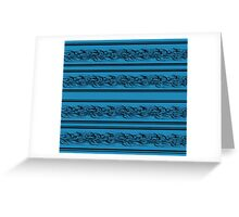 Blue abstract barbwire Greeting Card