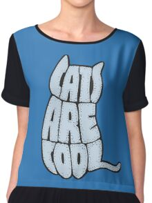 Cats are cool Chiffon Top